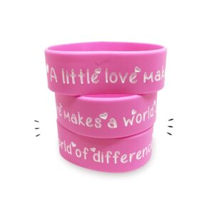 A Little Love can Make a World of Difference - debossed wristband