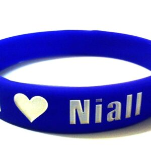 12 mm Purple I ? Niall One Direction ~ Debossed Silicone Wristband Bracelet