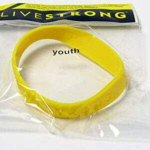 Livestrong Lance Armstrong Yellow Cancer Rubber Wristband Youth Size