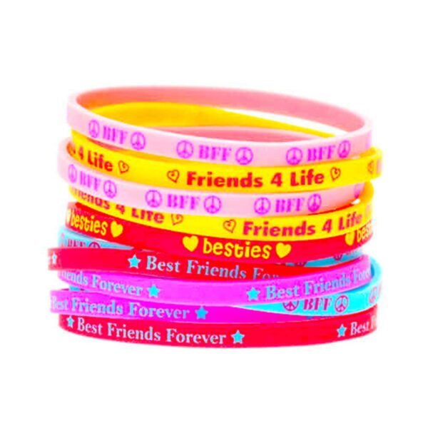 Printed Multicolour Glow in The Dark Radium Friendship Band for Girls and Boys Friendship Belt for Friends Free Size