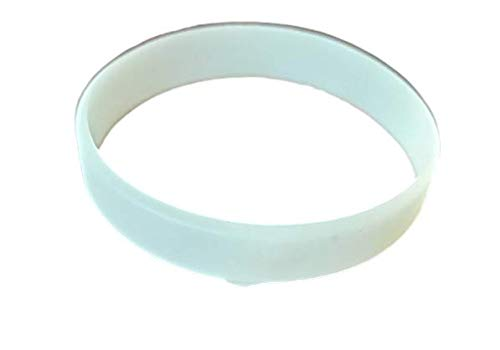 YS Wristband for Men and Women - White - Radium (Glow in Dark) (Pack of 10)