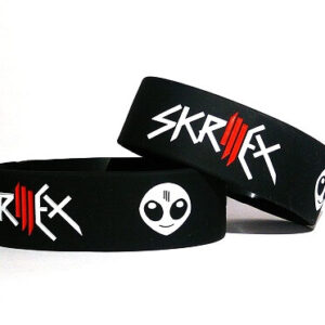 skrillex rubber wristbands